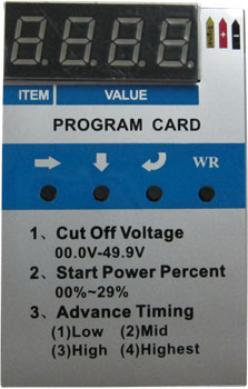 AH Program Card - Arrowind ESCs (Air)