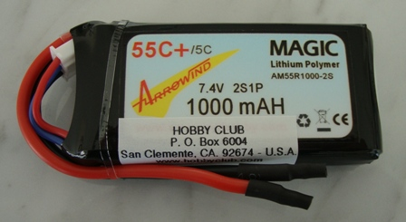 AH 1000mAh 2S 55C Lipo Battery
