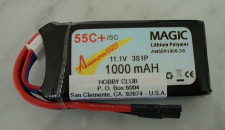 AH 1000mAh 3S 55C Lipo Battery
