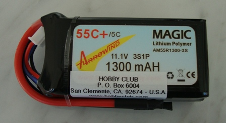 AH 1300mAh 3S 55C Lipo Battery