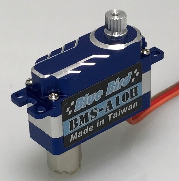 Blue Bird Micro Alum.Case Digital Flat Mount Wing Servo