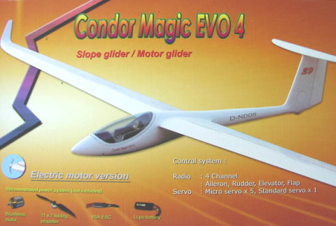 HC-FF Condor Magic EV4 ARF 3.0m Semi Scale Glider