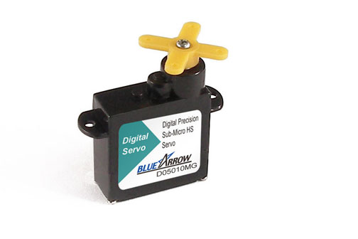 BlueArrow D05010MG Sub-Micro Digital MG Servo 5.9g-16.6oz/in
