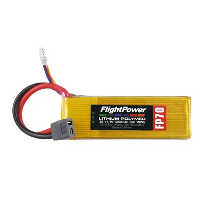 FlightPower 1300mAh - 3S - 70C Lithium Polymer Battery Pack