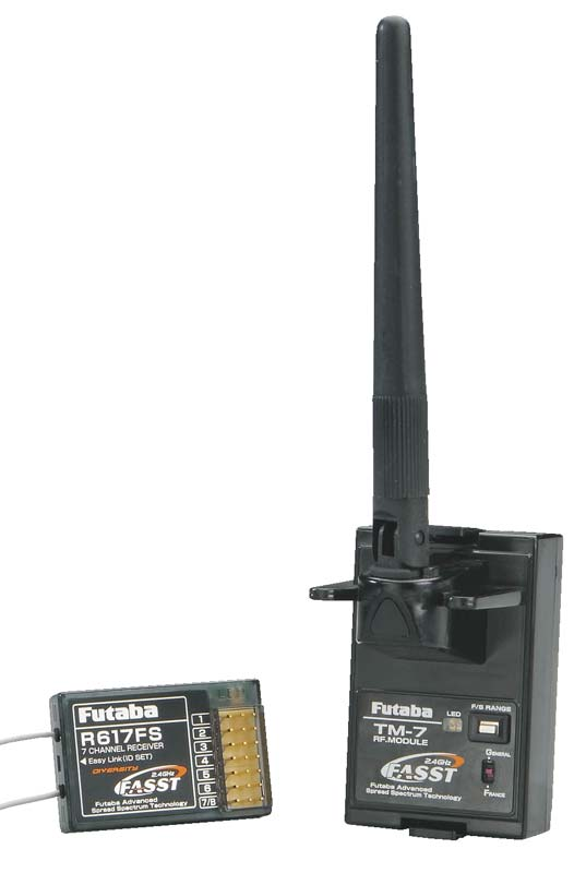 Futaba 2.4Ghz FASST 7-Channel Module/Receiver Set