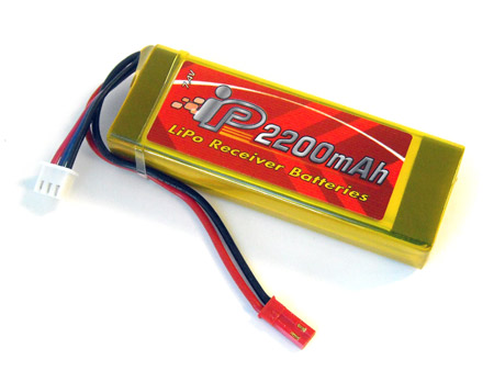 Tenergy 7.4V-2200mAh-2S Lipo Rx Battery Pack