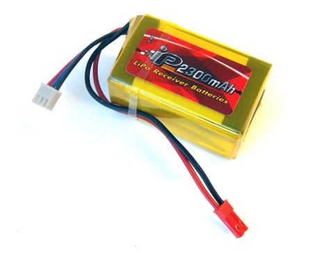 Tenergy 7.4V-2300mAh-2S Lipo Rx Battery Pack