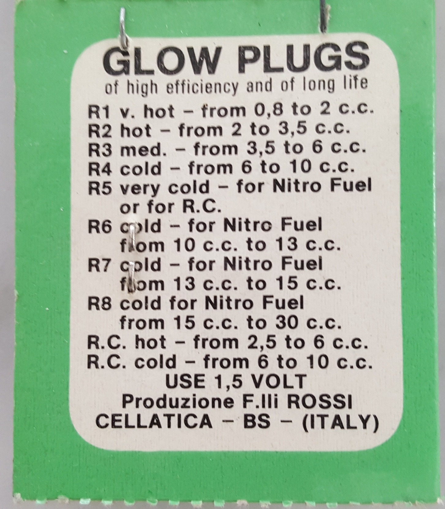Rossi R8 Glow Plug - Extra Cold