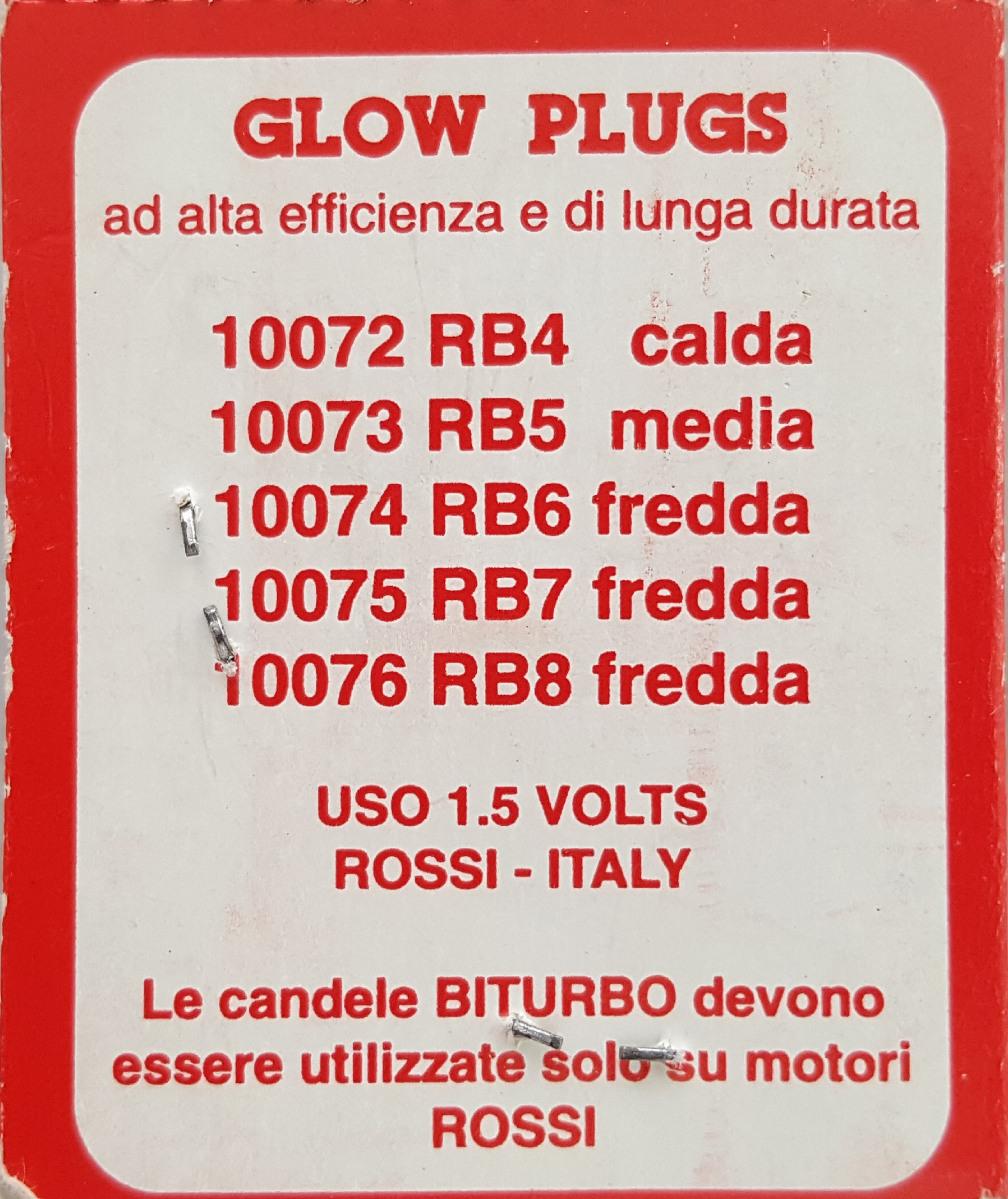 Rossi RB5 Turbo Glow Plug - Medium