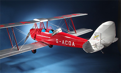 "GRC Tiger Moth Super Scale R/C Model 78"" Wingspan"