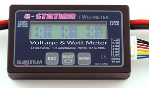 Bantam e-Station Two-Meter Cell Balancer, Watt-meter & Battery C