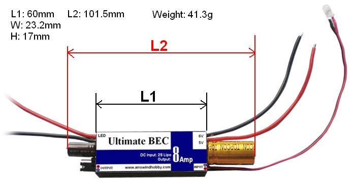 AH Ultimate UBEC-8A for Rx
