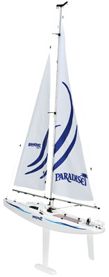"Aqua Paradise FiberGlass 26"" Sailboat Ready to Sail"