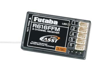 Futaba R616FFM 2.4Ghz FASST 6-Channel Park Flyer Rx