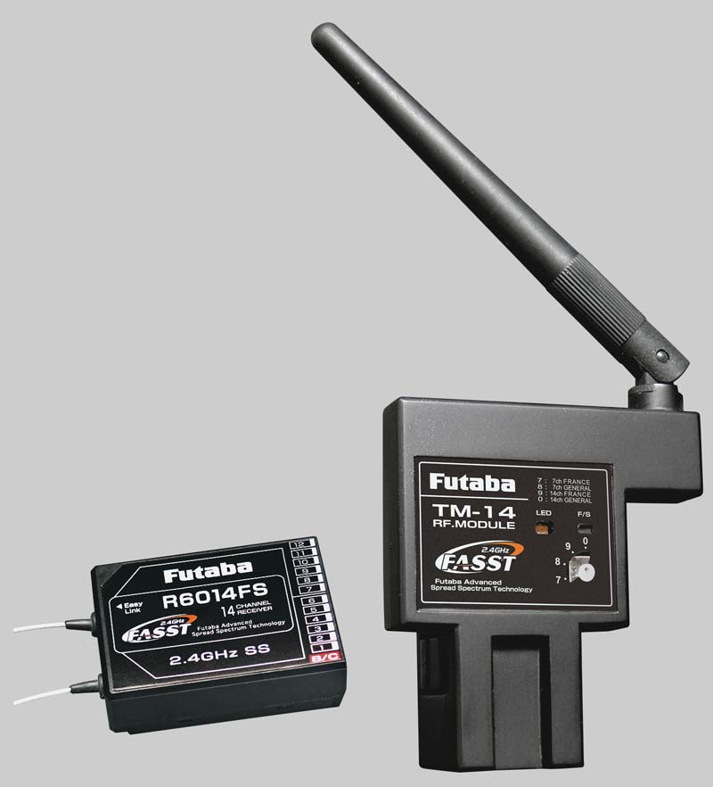 Futaba 2.4Ghz FASST 14-Channel Module/Receiver Set