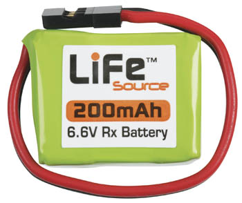 LiFe 6.6V 200mAh  1C Rx Battery Pack