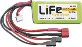 LiFe 6.6V 1100mAh 10C Rx Battery Pack