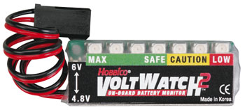 Hobbico VoltWatch2 4.8V/6V Rx Battery Monitor