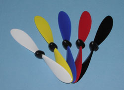 "Gunther 150x180mm (5.9x7"") White Plastic Propeller w/black spinn"